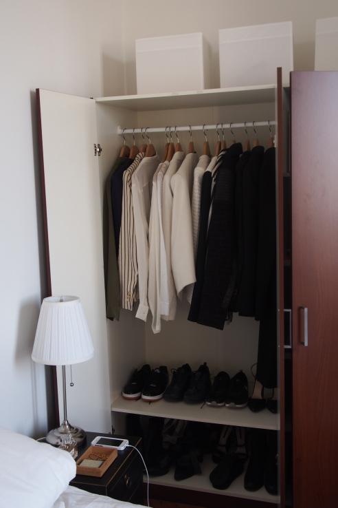 tidiest wardrobe in the history of Celia's wardrobes