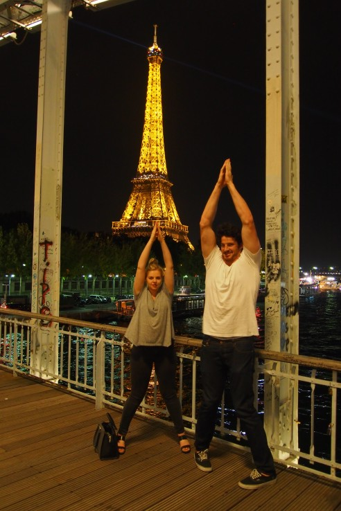 Kate and Hugh were the victors of the Eiffel Tower Games...