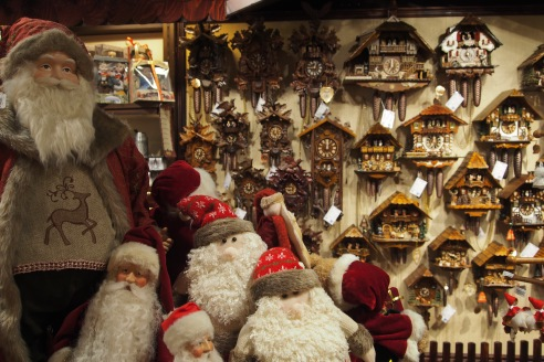 The cuckoo clocks reminded me of my childhood and the clocks in my Grandad's shop